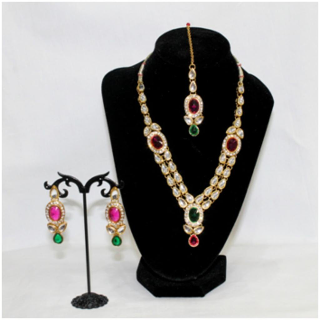 Комплекты: Комплект 3 предмета: колье, тика, серьги в Шамбала, индийская лавка
