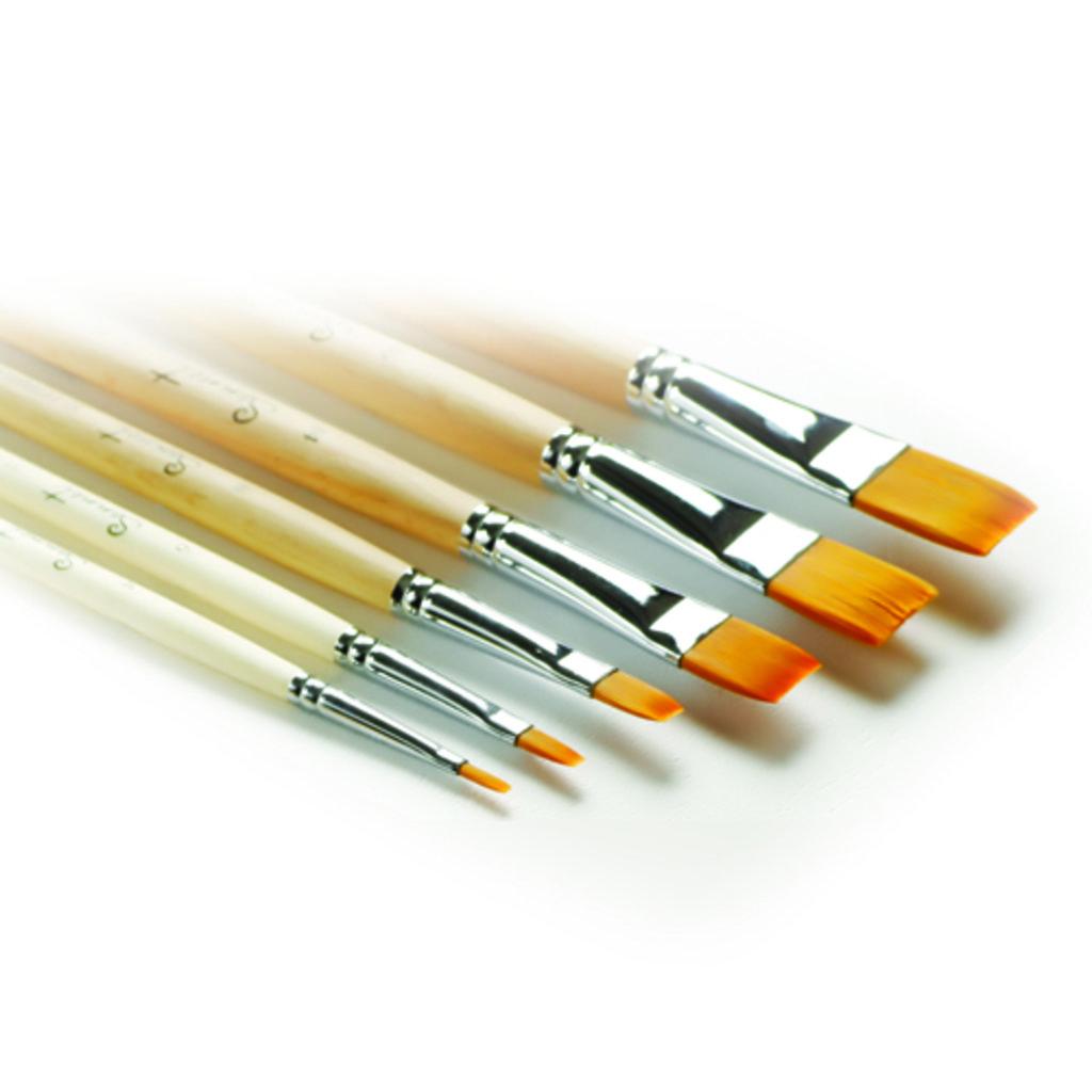 плоская: Кисть синтетическая  плоская длинная ручка пропитанная лаком Сонет №24 (322224) в Шедевр, художественный салон