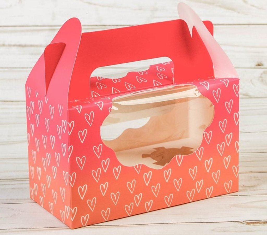 Упаковка: Коробка для кексов LOVE в ТортExpress