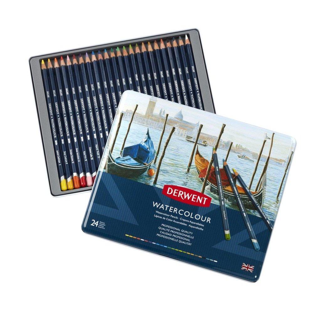 Акварельные карандаши: Набор акварельных карандашей Watercolour 24 цвета в металлической упаковке в Шедевр, художественный салон
