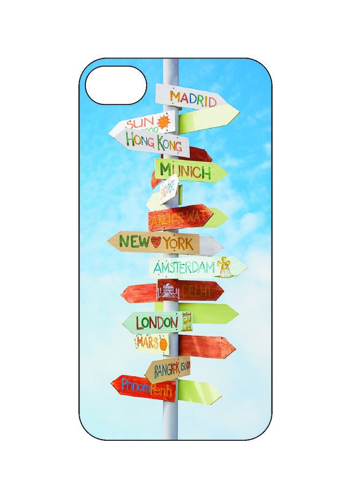 Выбери готовый дизайн для своей модели телефона: Указатель в NeoPlastic