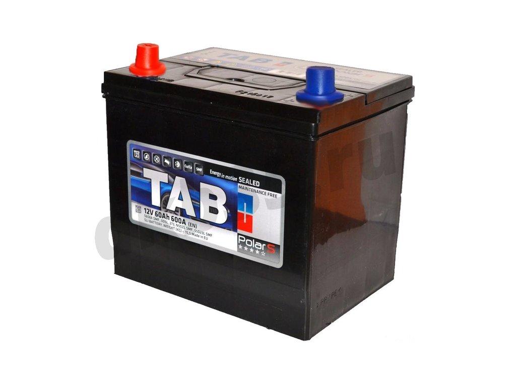 Аккумуляторы: TAB 60 А/ч Прямой Азия Нижнее крепление JIS MF в Планета АКБ