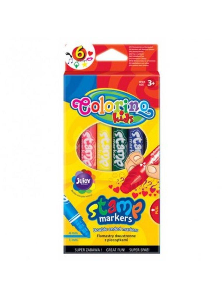"""Фломастеры: Фломастеры двойные для штампов""""Stamp"""" Colorino 6шт в Шедевр, художественный салон"""