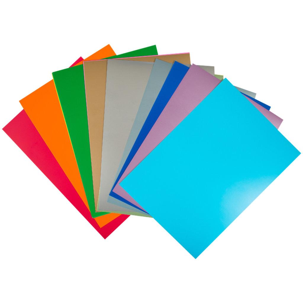 """Наборы цветной бумаги и картона: Картон цветной A4, Мульти-Пульти, 20л., 20цв. мел., перлам., флуор., в папке, """"Енот в Тихом океане"""" в Шедевр, художественный салон"""