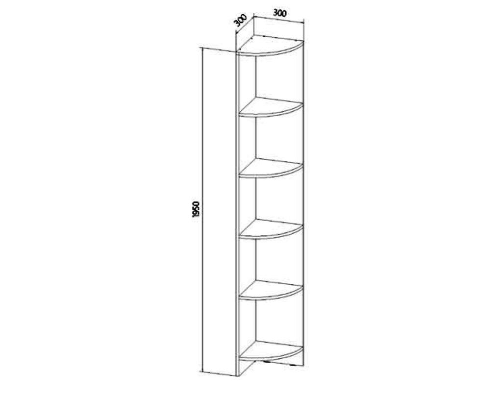 Детские шкафы и стеллажи: Стеллаж угловой Буратино в Стильная мебель