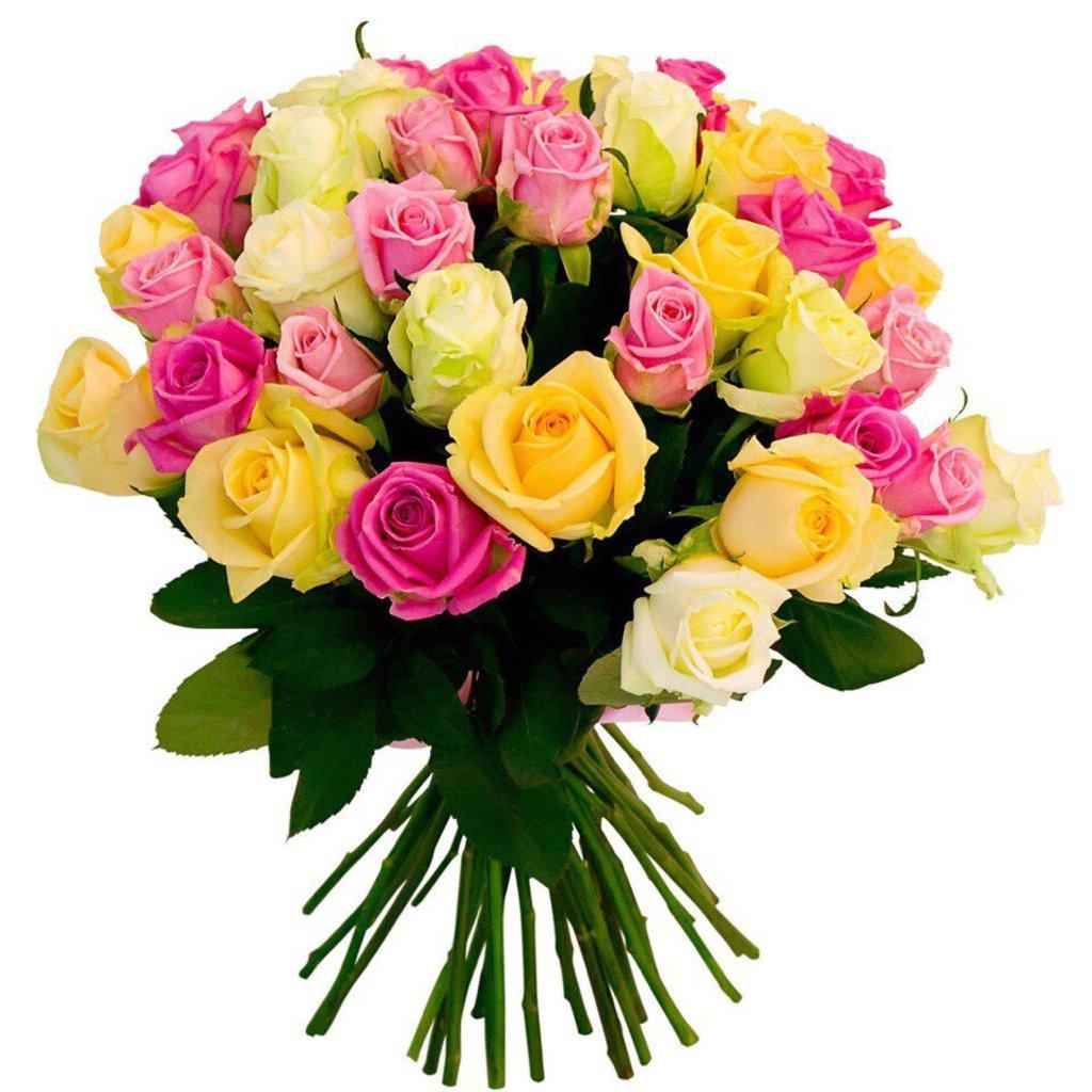 Цветы: Роза микс в Николь, магазины цветов