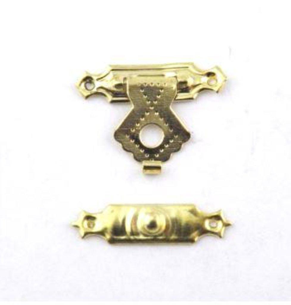 Шкатулки: Замок накладной для шкатулок 24*15мм, золото  1шт FL-031 в Шедевр, художественный салон