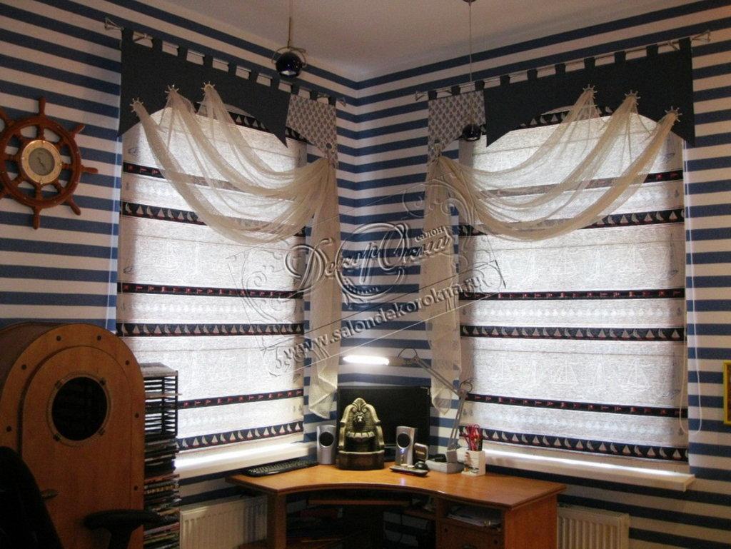 Шторы, портьеры: Шторы в детскую комнату в Декор окна, салон