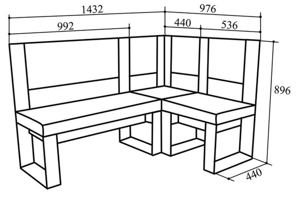 Кухонные уголки: Кухонный уголок КУ-80 в Уютный дом