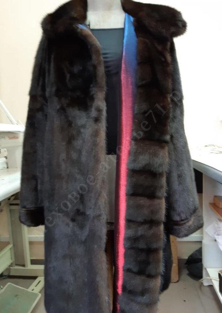 Индивидуальный пошив: Пальто из коричневой норки СТК двухсторонее в Молодость