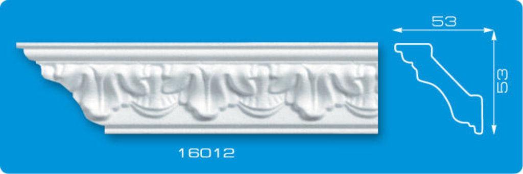 Плинтуса потолочные: Плинтус потолочный ФОРМАТ 16012 инжекционный длина 1,3м, средний в Мир Потолков