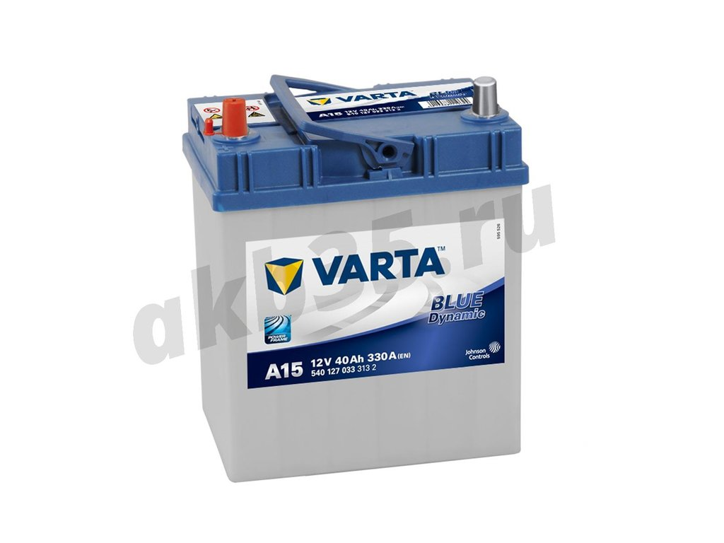 Аккумуляторы: VARTA 40 А/ч Прямой BLUE A15 (540 127 033) в Планета АКБ
