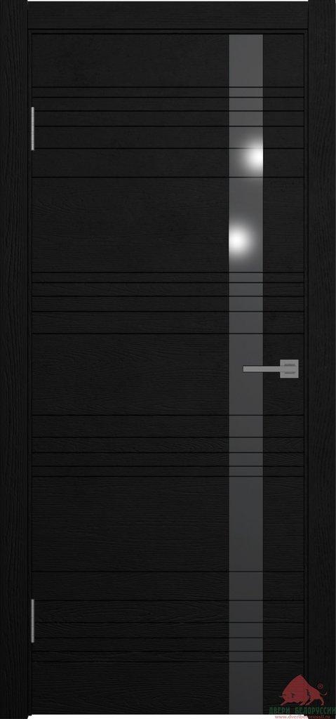 Двери Белоруссии  шпонированые: NEXT (черный ясень) в STEKLOMASTER