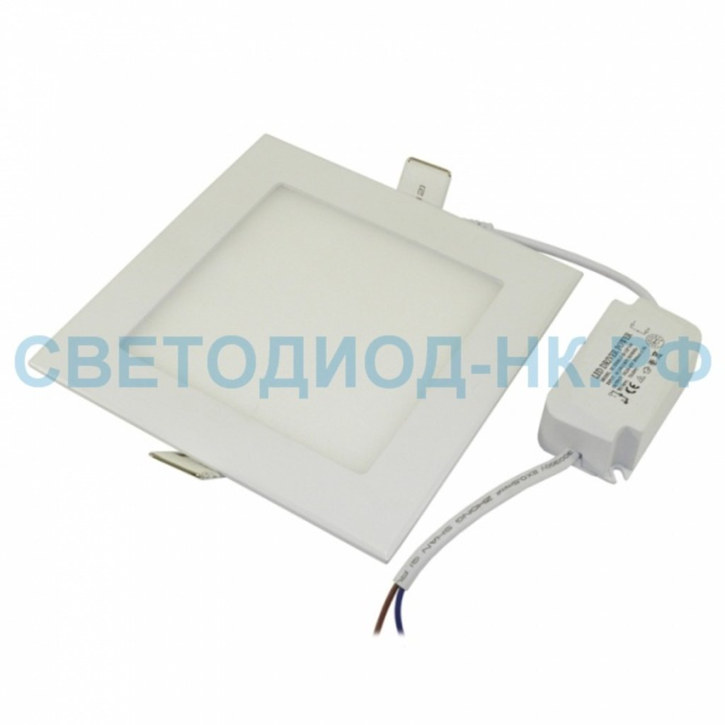 Встраиваемые светодиодные светильники: Панель светодиодная квадратная SLP-eco 12Вт 230В 4000К 840Лм 171х171х23мм белая IP40 In Home в СВЕТОВОД
