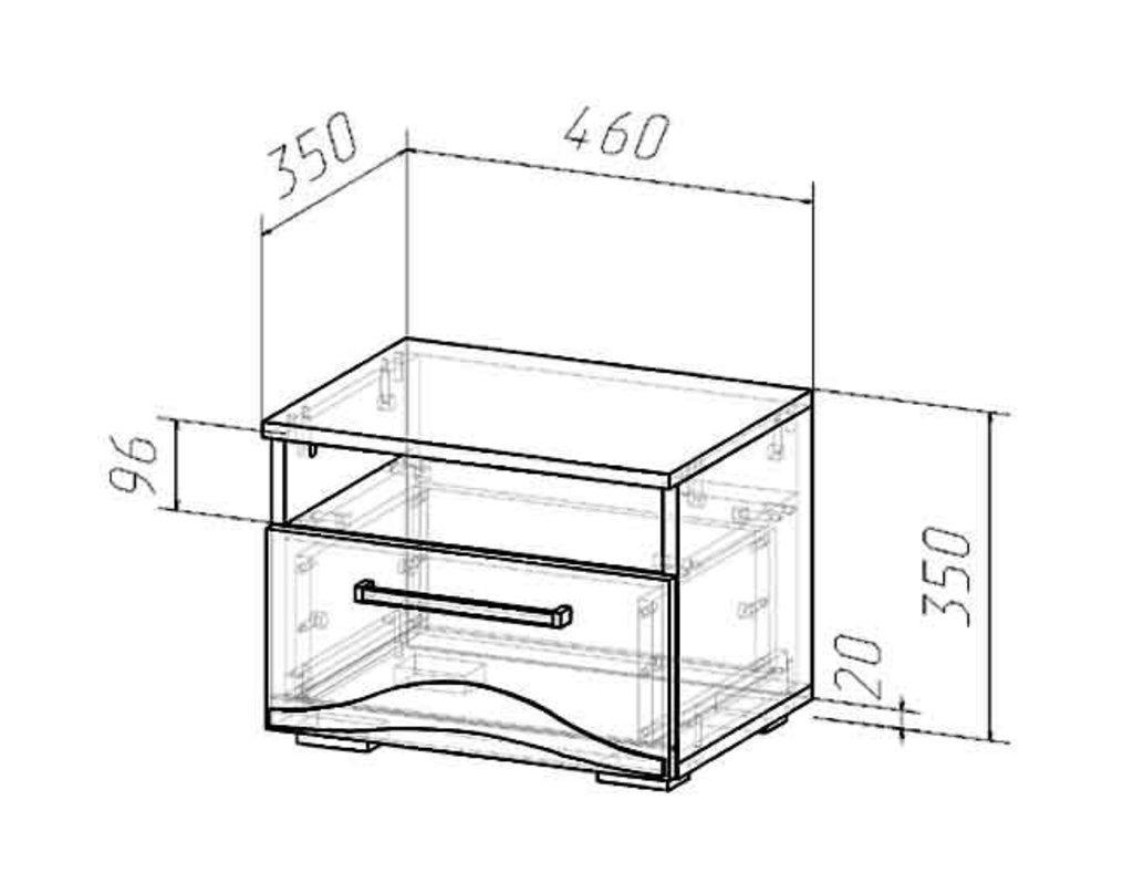 Мебель для спальни Верона. Модульная серия.: Тумба прикроватная Верона в Уютный дом