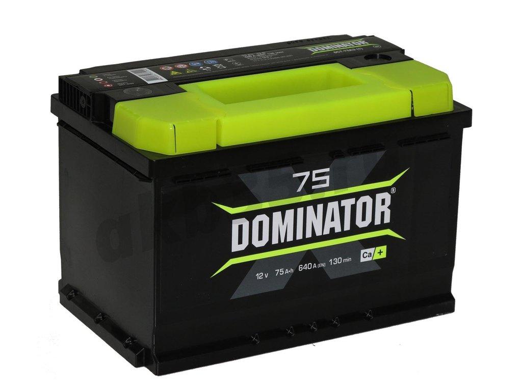 Аккумуляторы: Dominator 75 А/ч Прямой в Планета АКБ