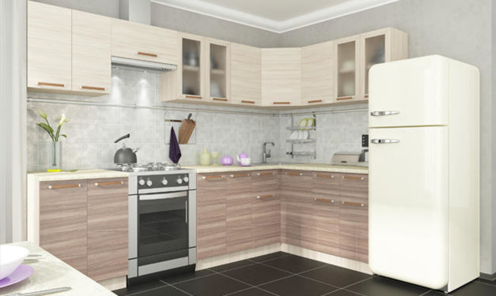 Мебель для кухни модульная серия Прага: Стол угловой. Кухня Прага в Уютный дом