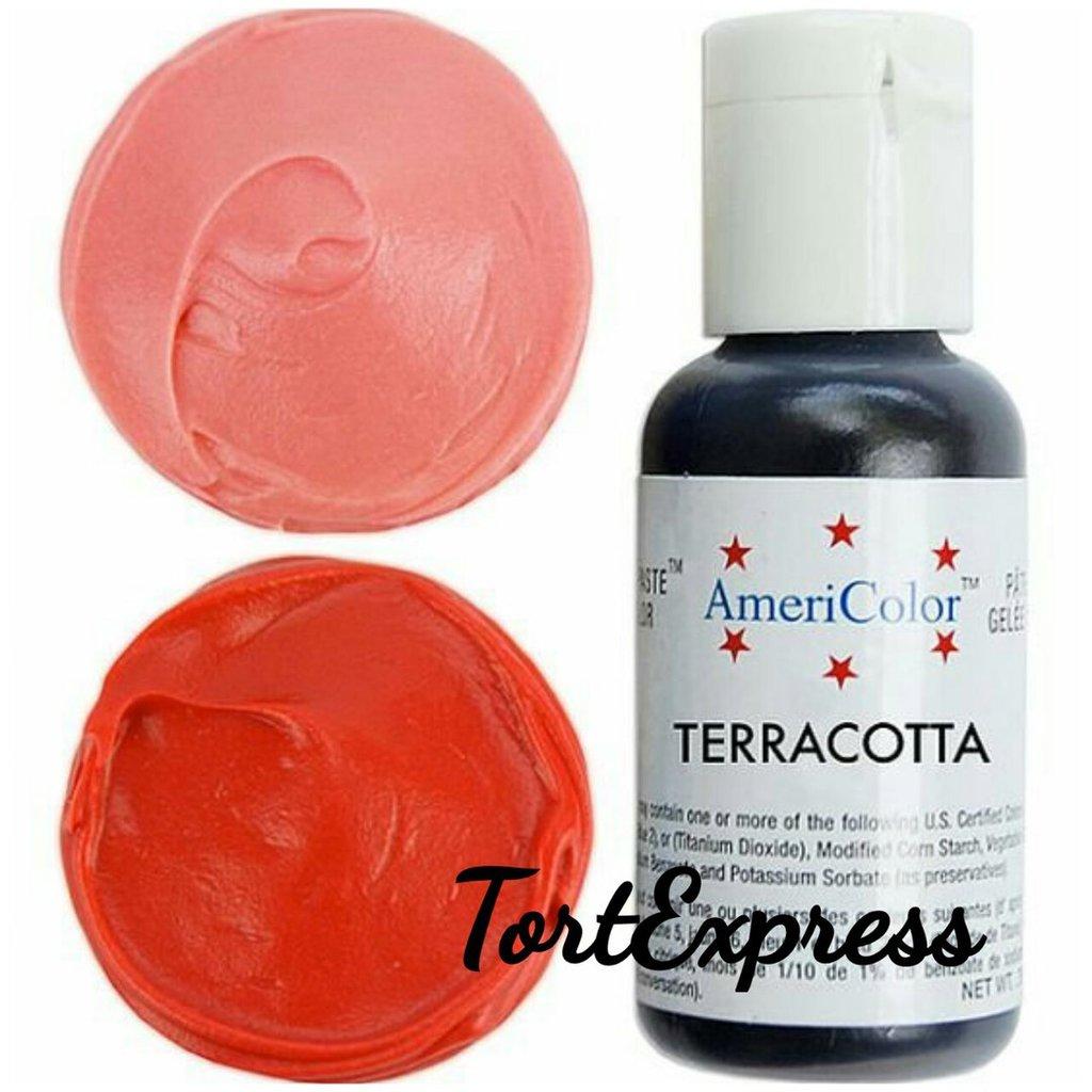 Ингредиенты: Гелевый краситель AmeriColor, терракотовый, флакон 21 гр в ТортExpress