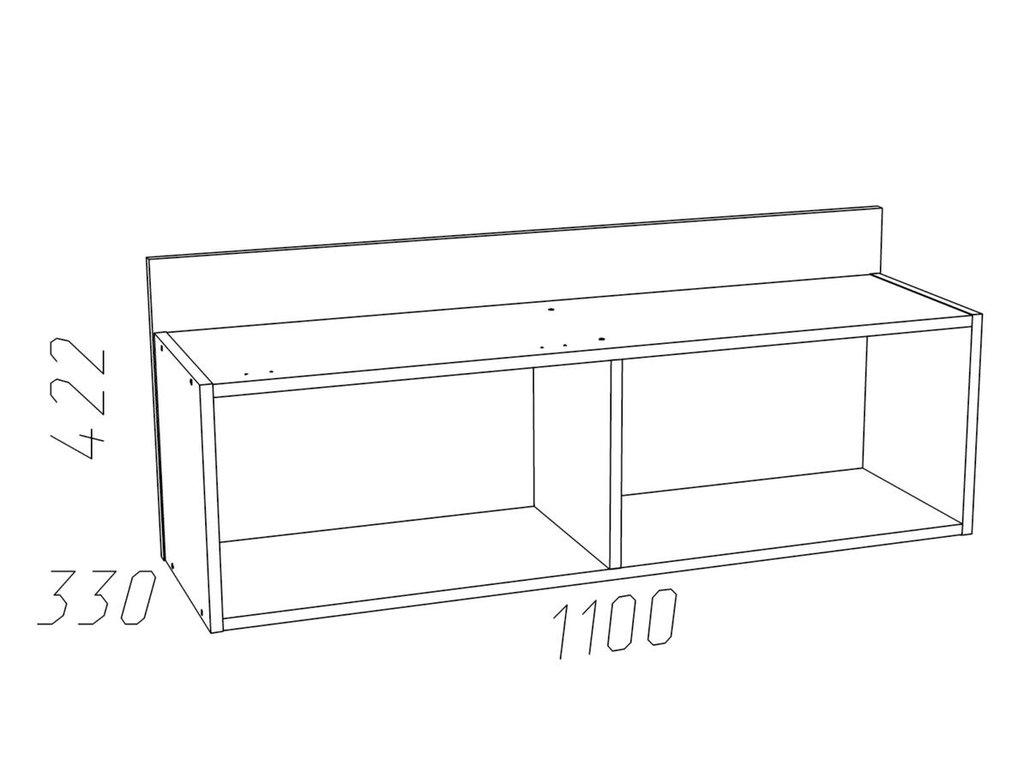 Полки детские: Полка с дверкой НМ 011.38 Фанк в Стильная мебель