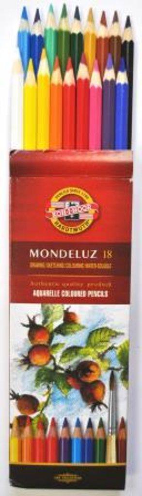 """Акварельные карандаши: Акварельные цветные карандаши """"Mondeluze"""" 18цв KON-I-NOOR в Шедевр, художественный салон"""