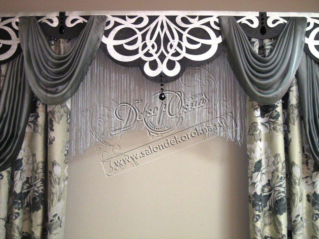 Карнизы для штор: Фигурные ламбрекены в Декор окна, салон