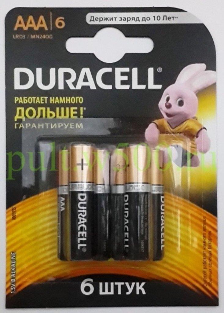 Батарейки.: Батарея LR03, AAA  DURACELL MN2400 (6BL) в A-Центр Пульты ДУ