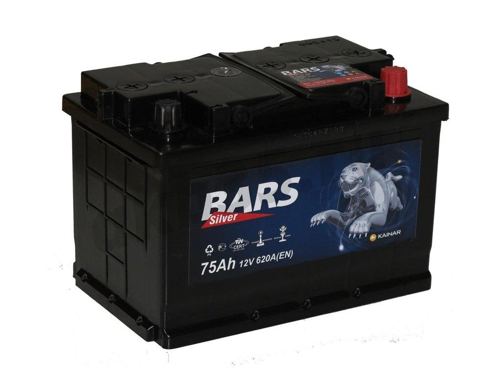 Аккумуляторы: BARS 75 а/ч /О.П./ silver в Планета АКБ