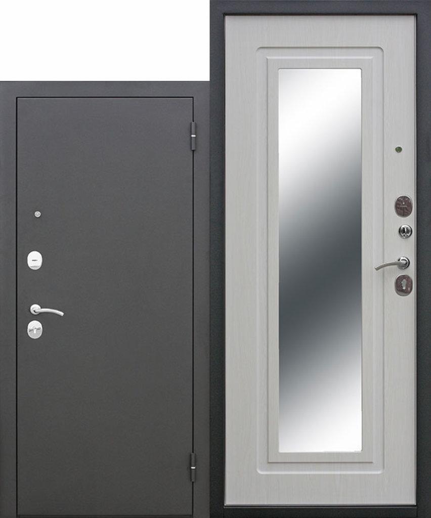 Двери завода Феррони: Царское зеркало Муар Белый ясень в Модуль Плюс