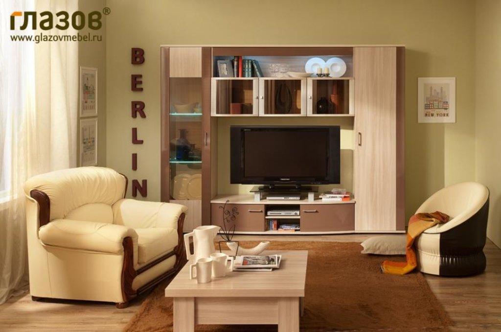 Модульная мебель в гостиную Berlin 2 (Шоколад глянец): Модульная мебель в гостиную Berlin  (Шоколад глянец) в Стильная мебель