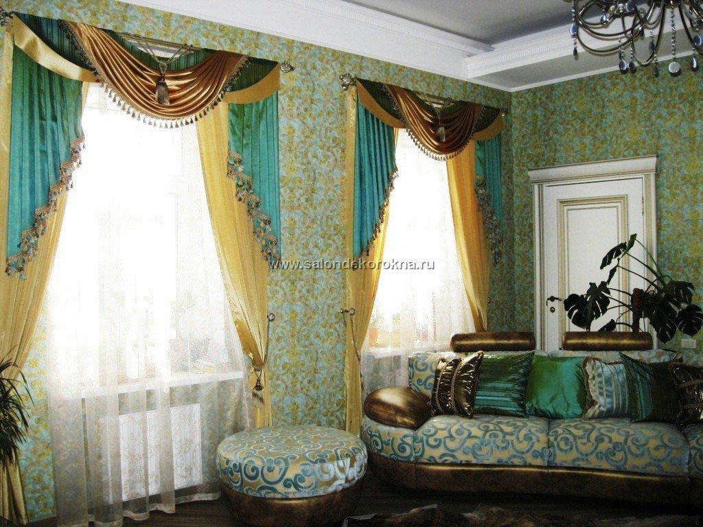 Шторы, портьеры: Шторы в гостиную в Декор окна, салон