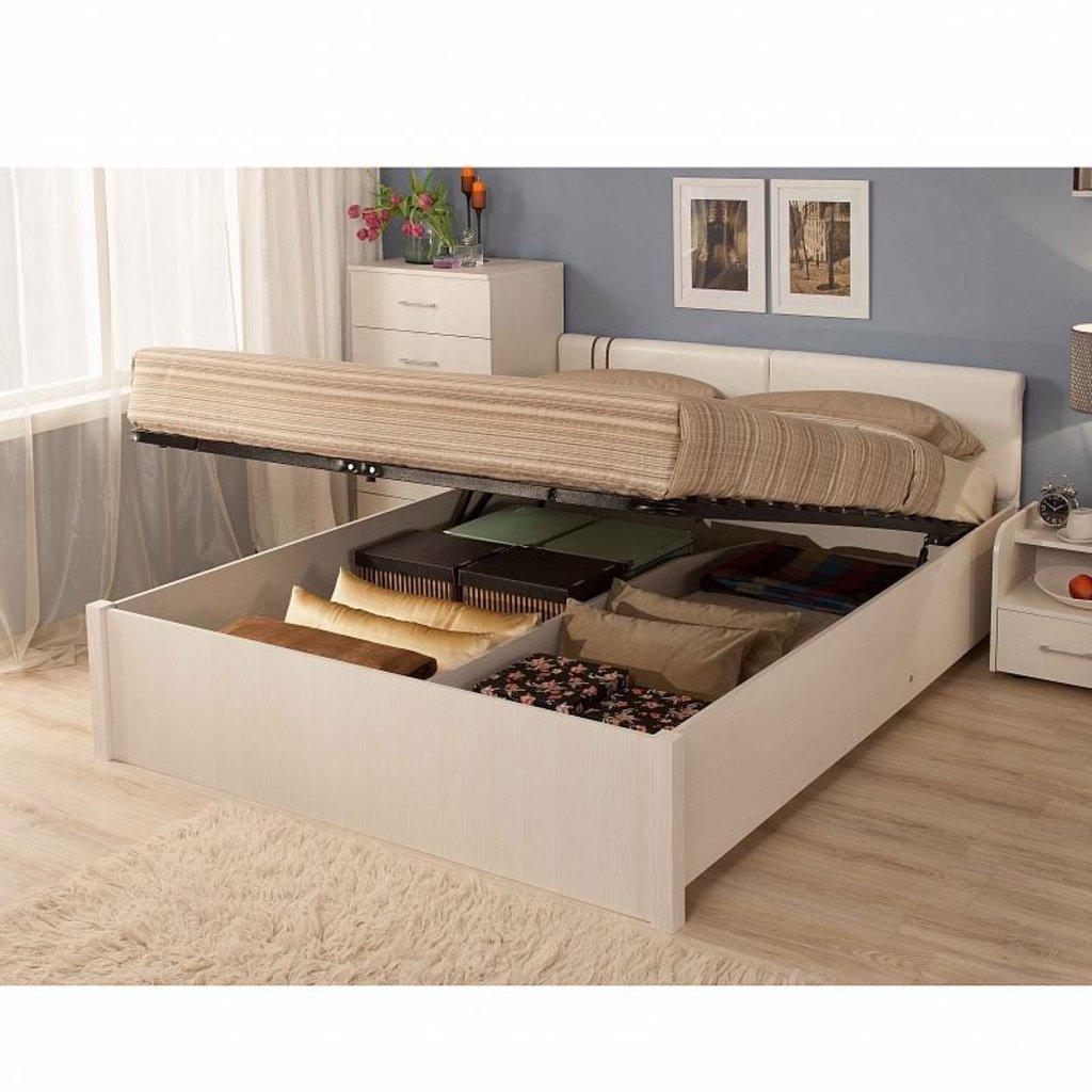 Кровати: Кровать Люкс BERLIN 53 (1800, мех. подъема) в Стильная мебель