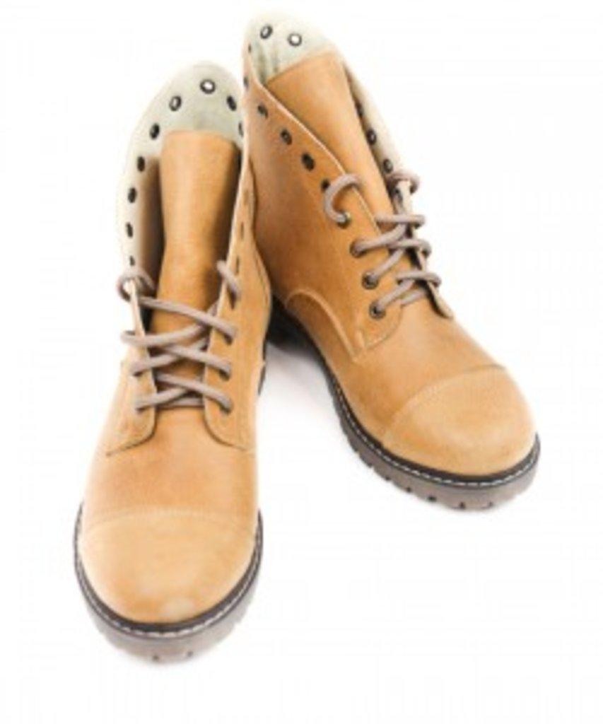 SALE: Ботинки из натуральной итальянской кожи рыже-коричневый в Sesso