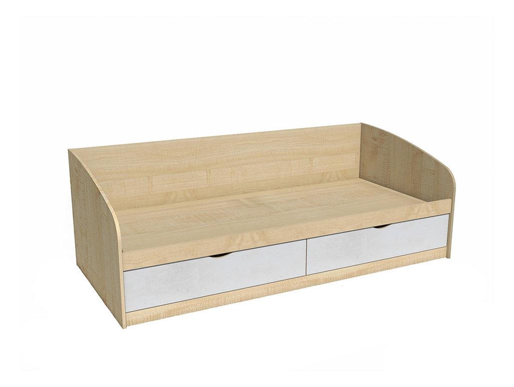 Детские и подростковые кровати: Кровать НМ 008.63 Фанк (900x2000, усилен. настил) в Стильная мебель