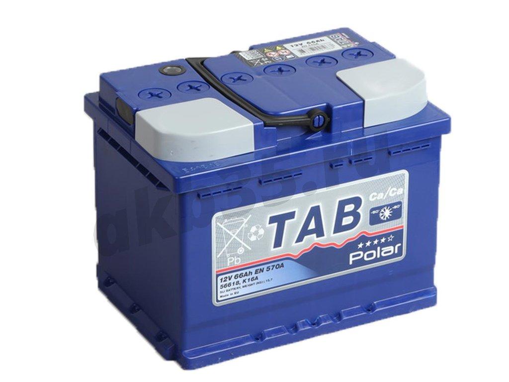 Аккумуляторы: TAB 66 А/ч Обратный POLAR в Планета АКБ