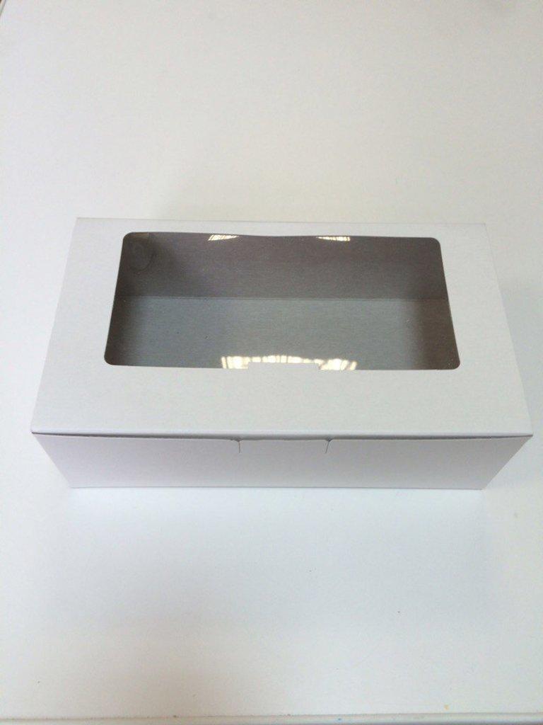 Упаковка: Коробка для кондитерских изделий с окошком, белая 220*125*70мм в ТортExpress