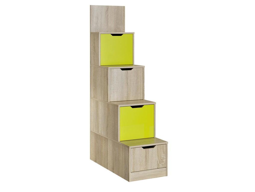 Детские шкафы и стеллажи: Стеллаж НМ 011.64 Акварель в Стильная мебель