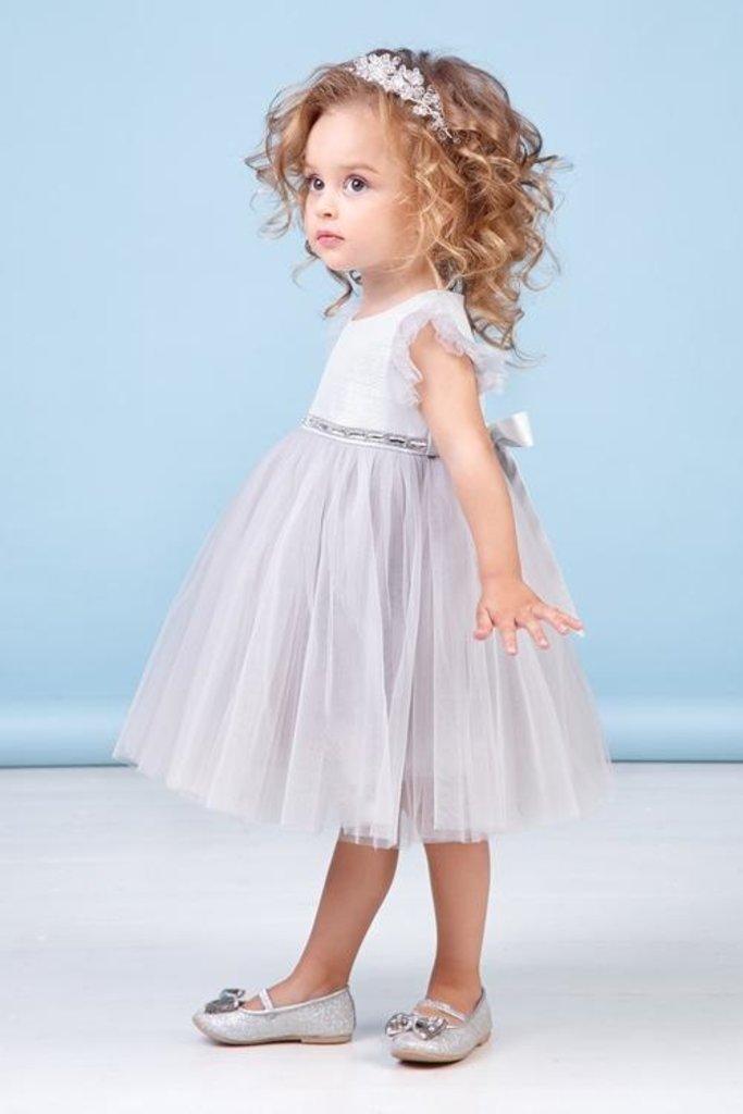 Платья: Платье 38-8039-4 Серебристый в Детский универмаг
