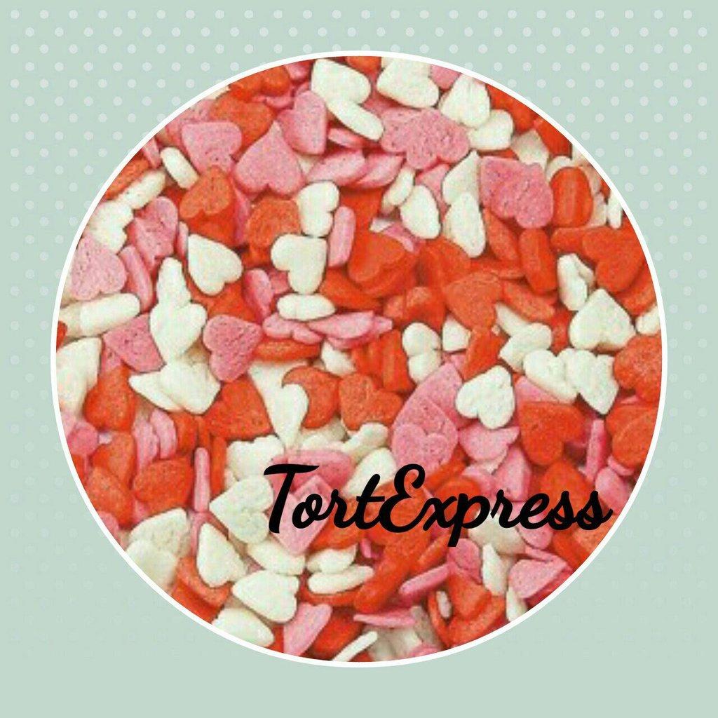 """Украшения, декор: Посыпка сахарная """"Сердечки красно-бело-розовые"""" 750г в ТортExpress"""