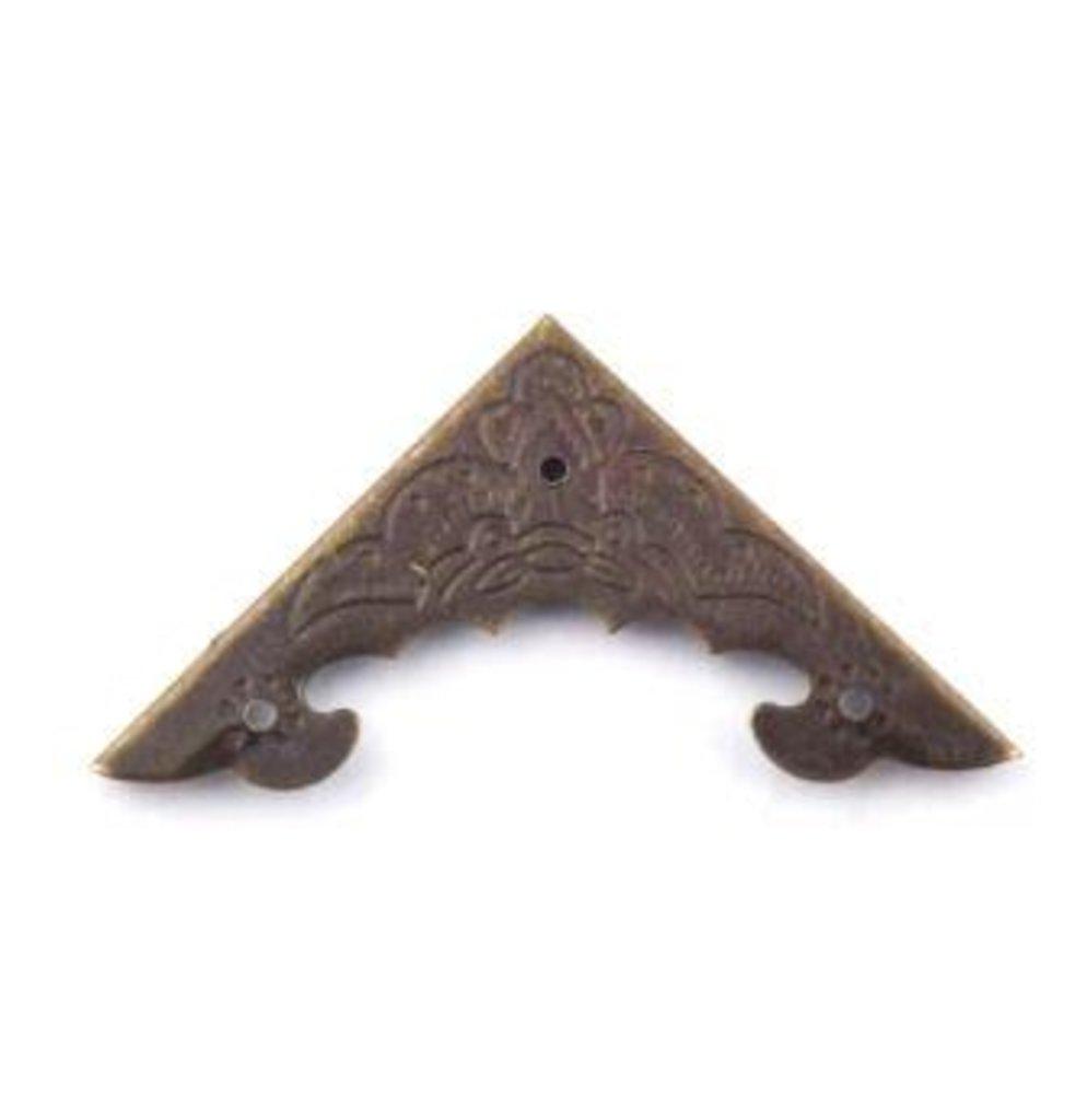 Шкатулки: Штампованный уголок 40*40мм h-4мм бронза FL-175 1шт в Шедевр, художественный салон