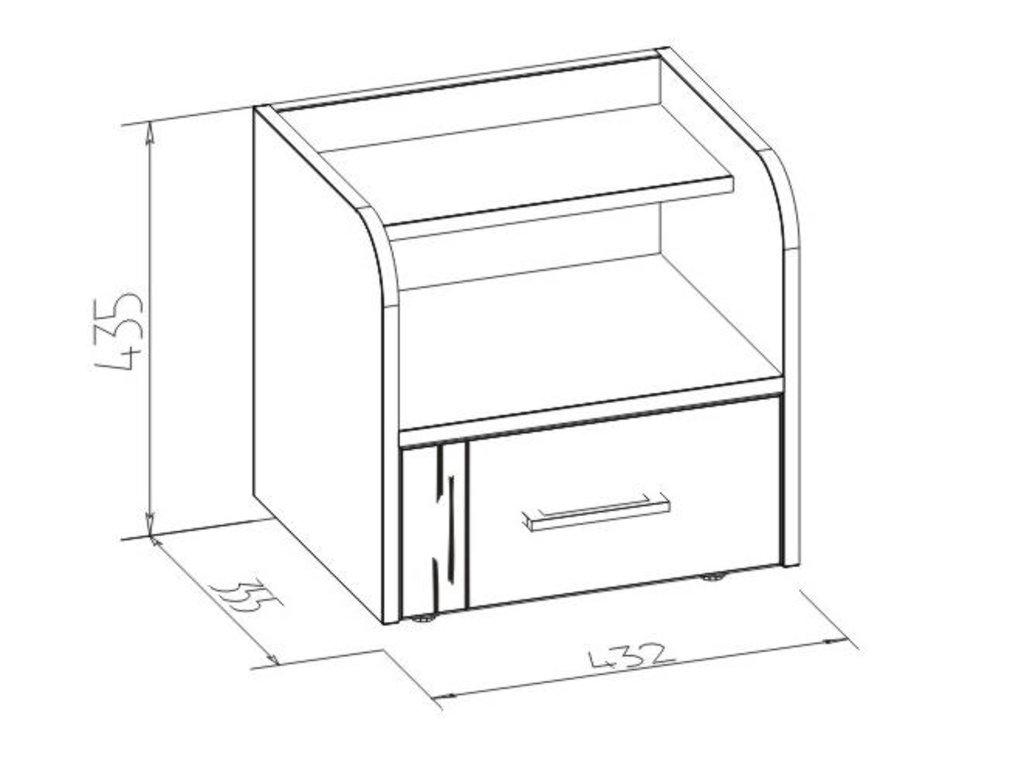 Прикроватные тумбочки: Тумба прикроватная Майя 41 в Стильная мебель