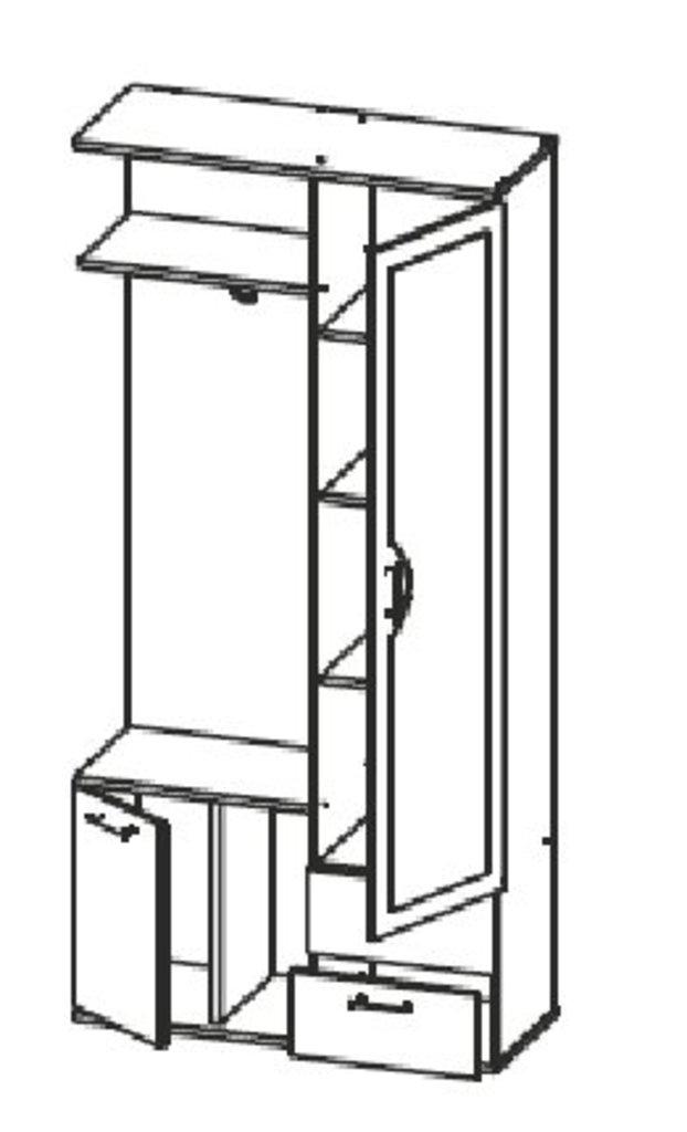 Шкафы для прихожих: Шкаф комбинированный Кармен - 1 в Стильная мебель