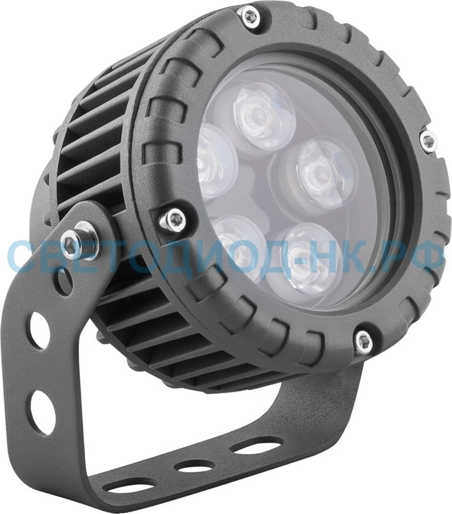 Архитектурные светильники: LL-882 Светодиодный прожектор, D95xH130, IP65 5W 85-265V, теплый белый в СВЕТОВОД