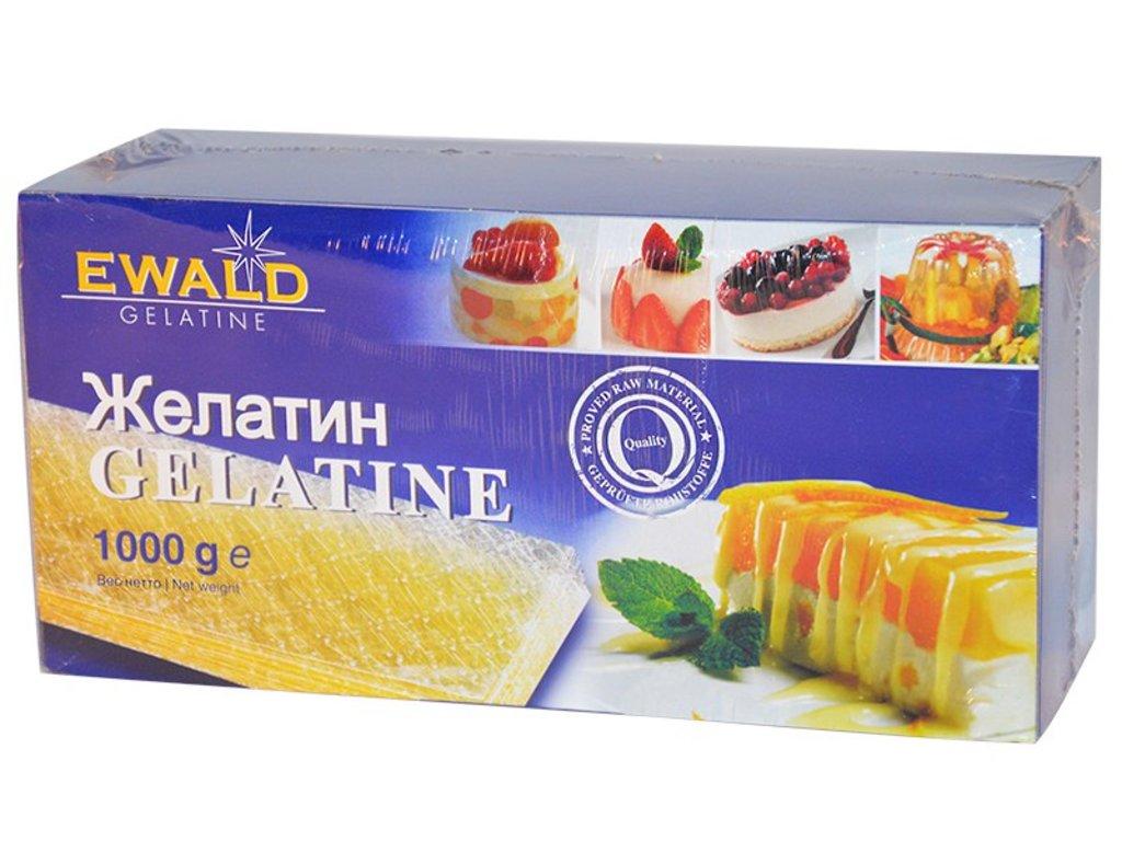 Желатин, агар-агар, загустители: Листовой желатин Ewald 10 листов (50 гр) в ТортExpress