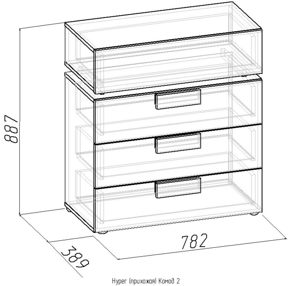 Комоды для дома: Комод 2 Hyper в Стильная мебель