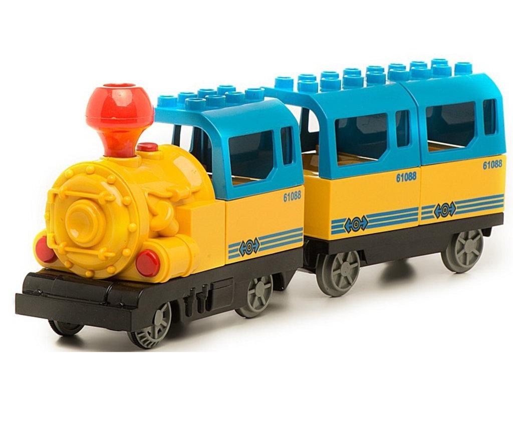 Конструкторы: Железная дорога Голубая стрела-конструктор, длина пути 162 см. в Игрушки Сити