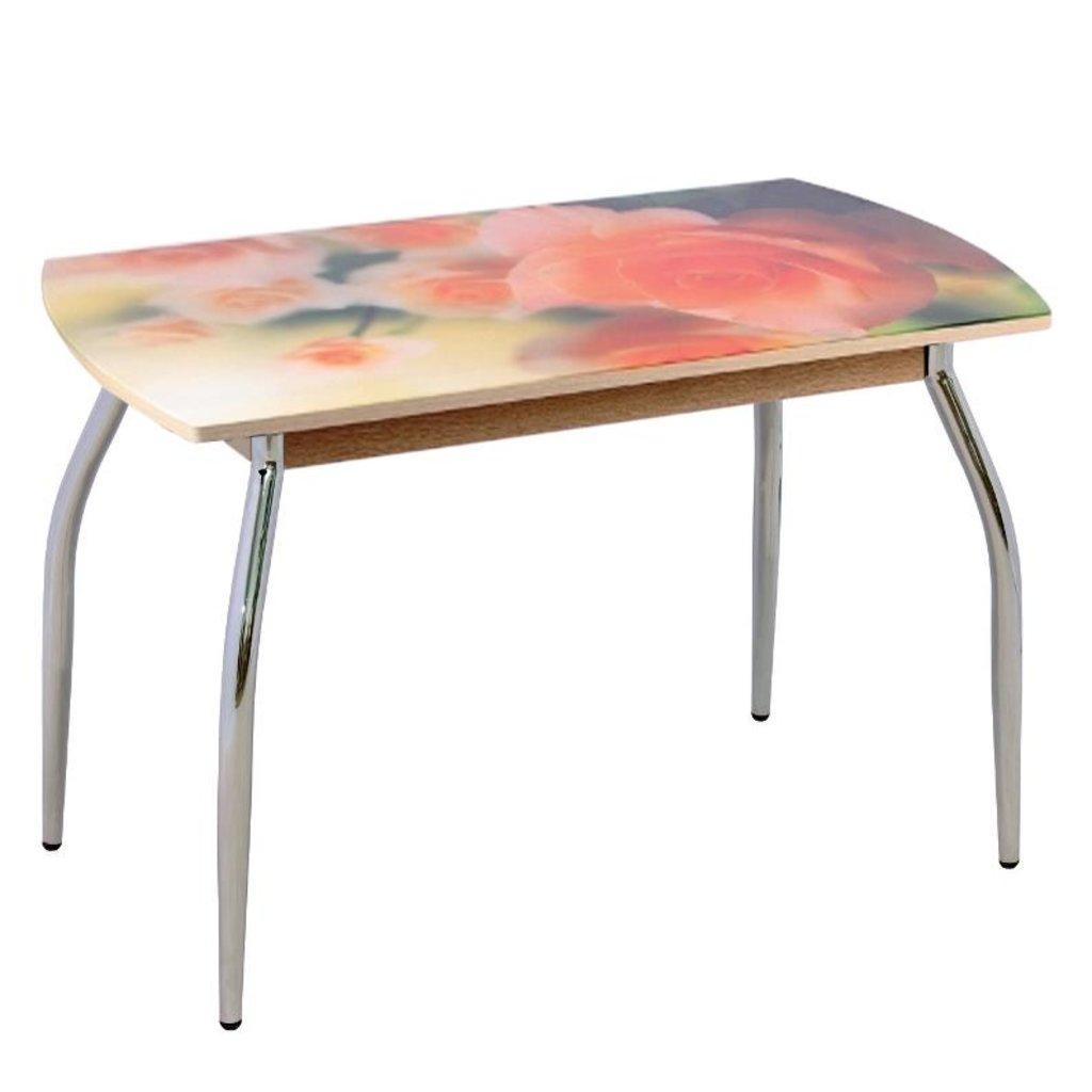Столы обеденные: Стол обеденный без полки 5.1 ДП64 чайная роза в Уютный дом