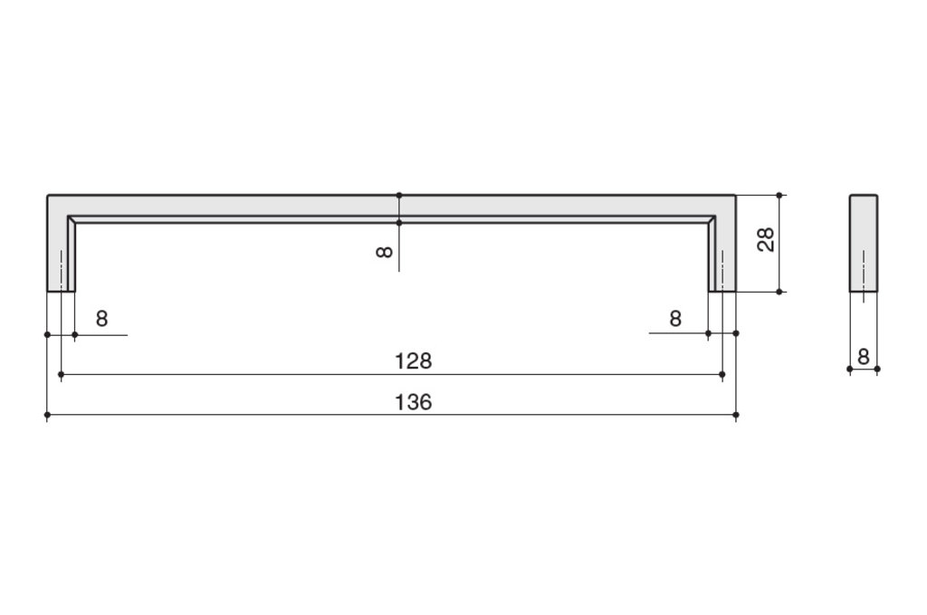 """Мебельная фурнитура """"НОВИНКИ"""": Ручка-скоба 128мм, отделка черный нефтяной в МебельСтрой"""