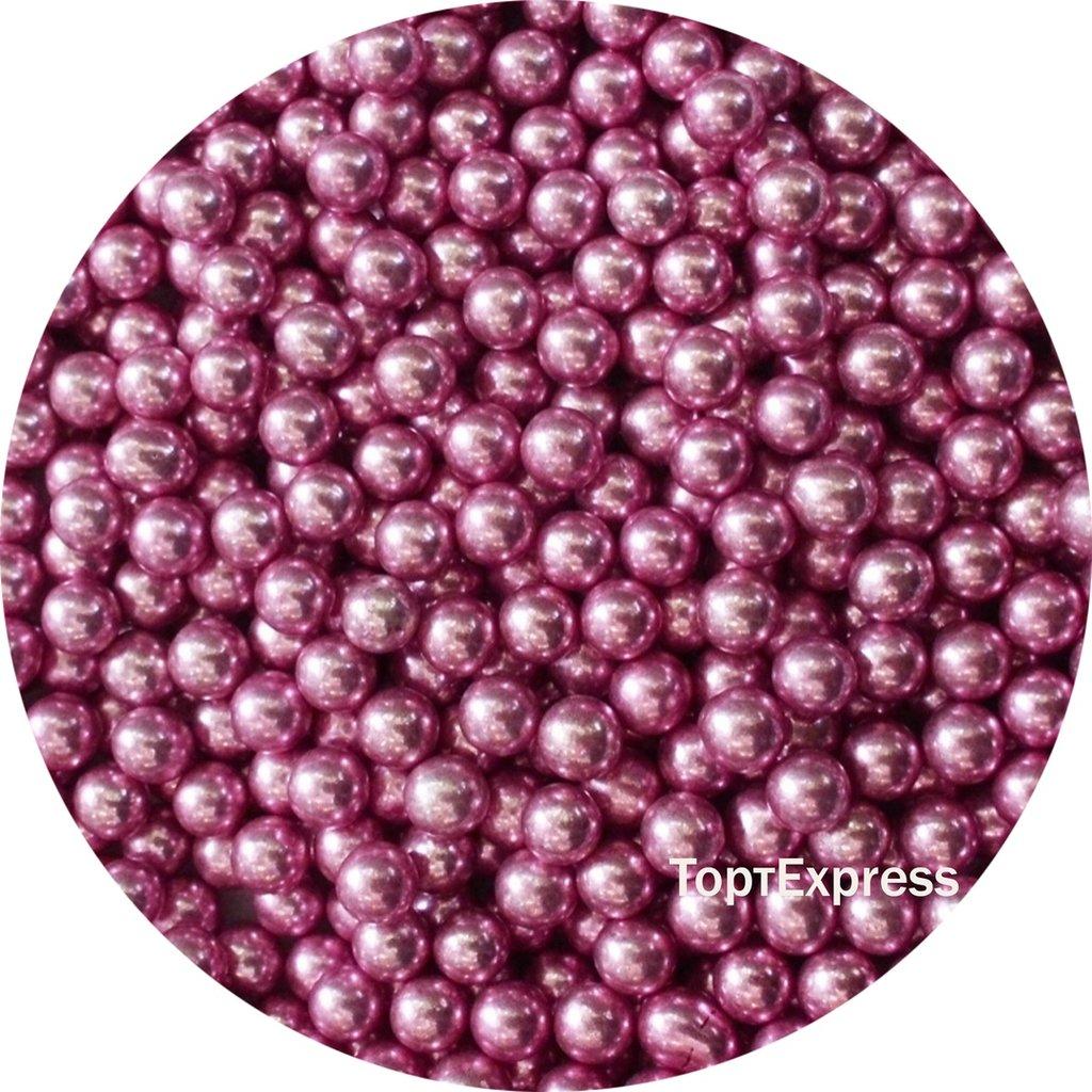 Посыпки декоративные: Шарики розовые 5мм в ТортExpress