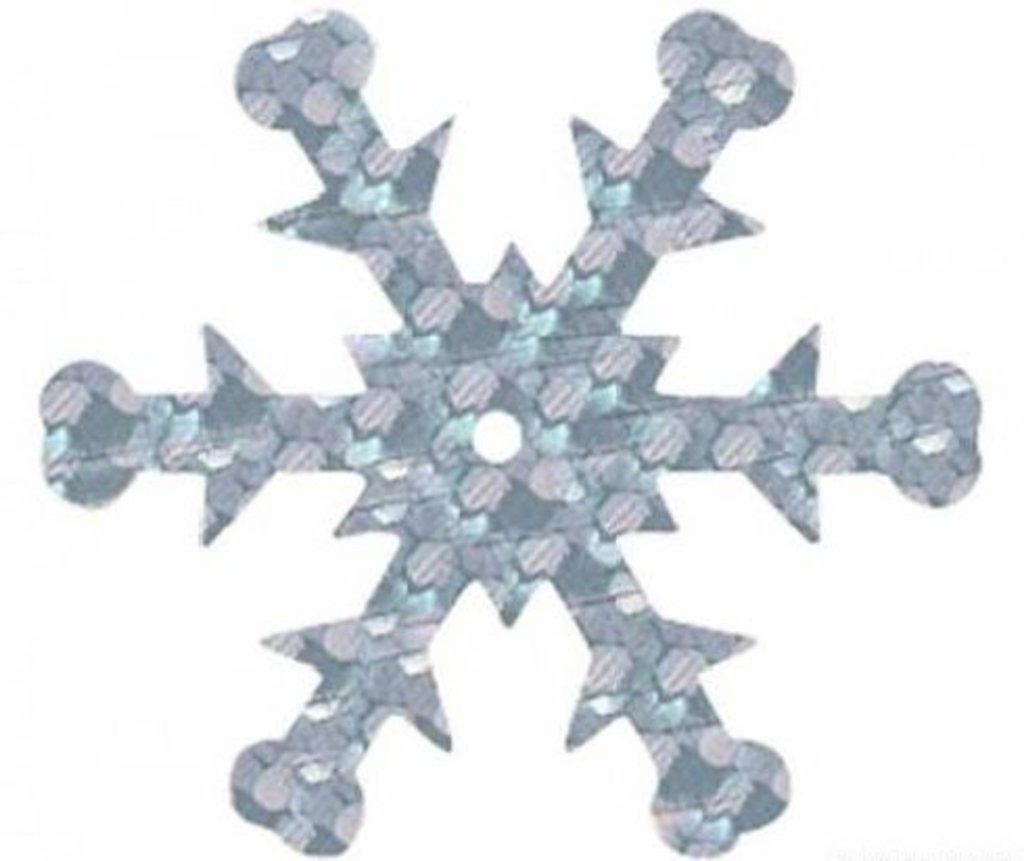 """Снежинки: Пайетки""""снежинки""""24мм.,упак/10гр.Астра(цвет:50112 серебро голограмма) в Редиант-НК"""