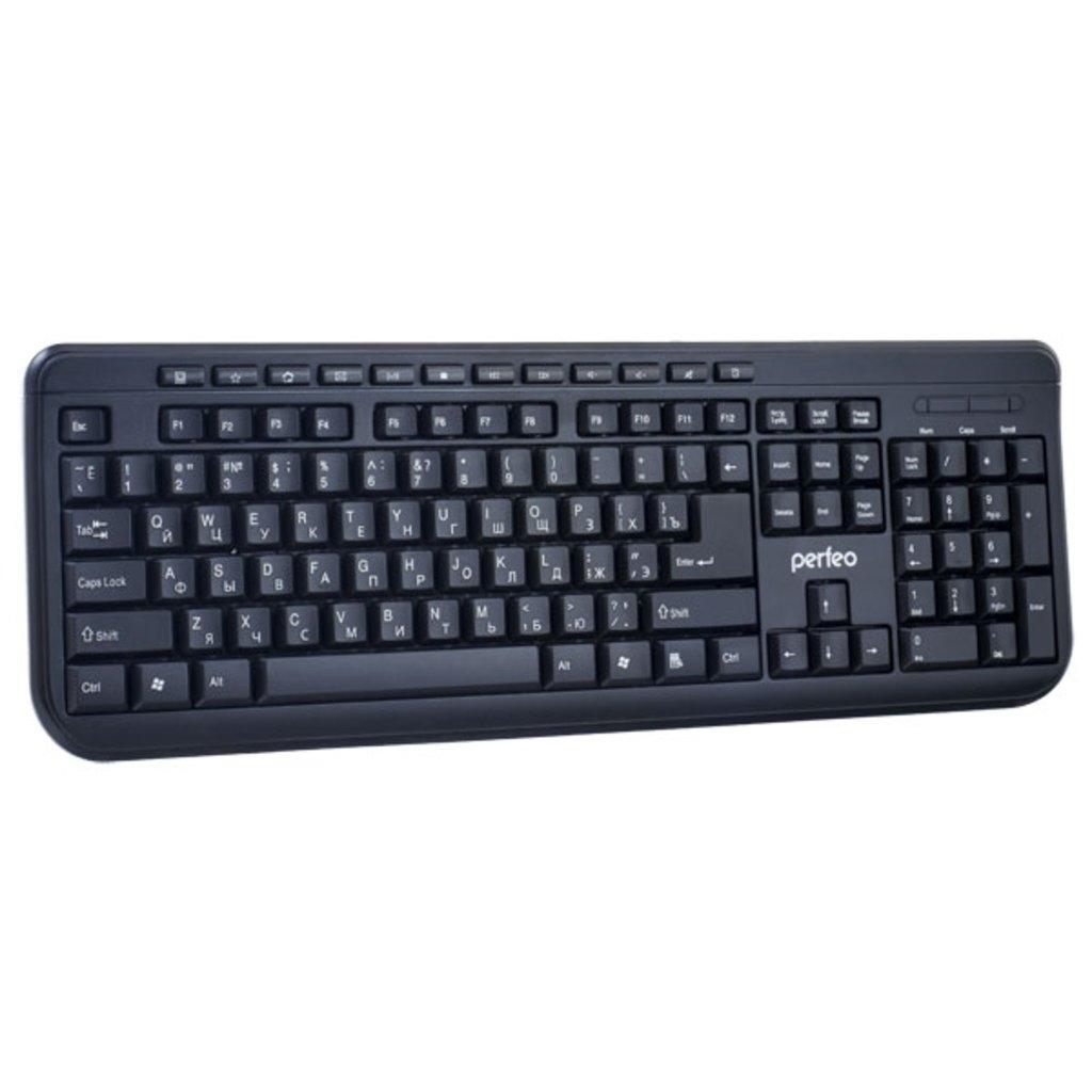 """Мышки, клавиатуры, коврики, стилусы: Клавиатура """"TEXTER"""" Multimedia, USB, чёрная ( Perfeo PF-004 ) в A-Центр Пульты ДУ"""